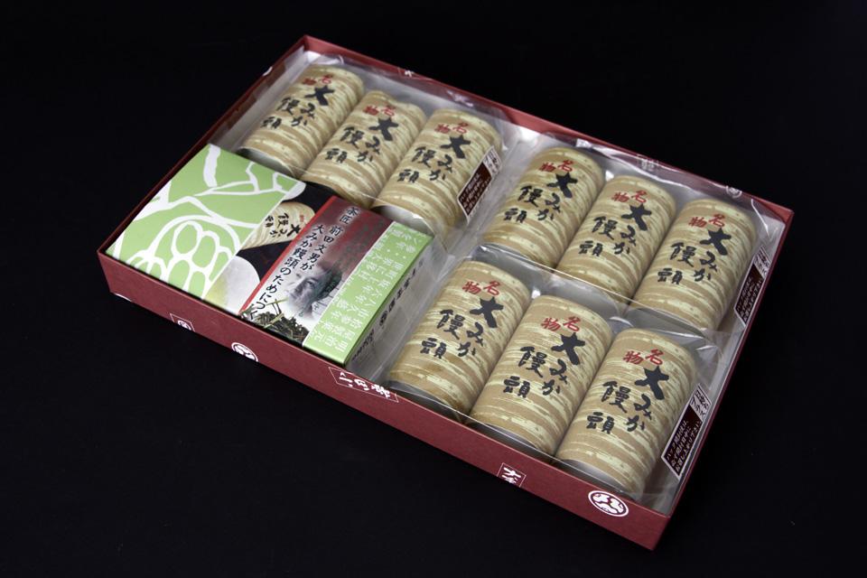 C-004 1,500円 大みか饅頭とお茶 大みか饅頭3P×3 煎茶 50g